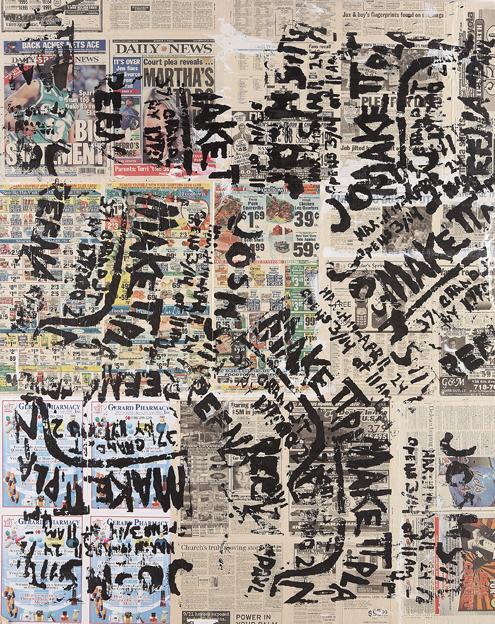 Newspaper Collage Artist Newspaper Collage Art
